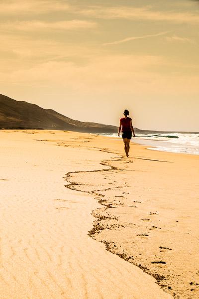 Strandfoto Frau am Strand