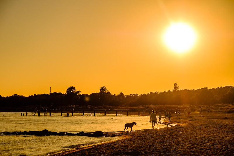 Strandbilder Gegenlichtaufnahme Fotonomaden