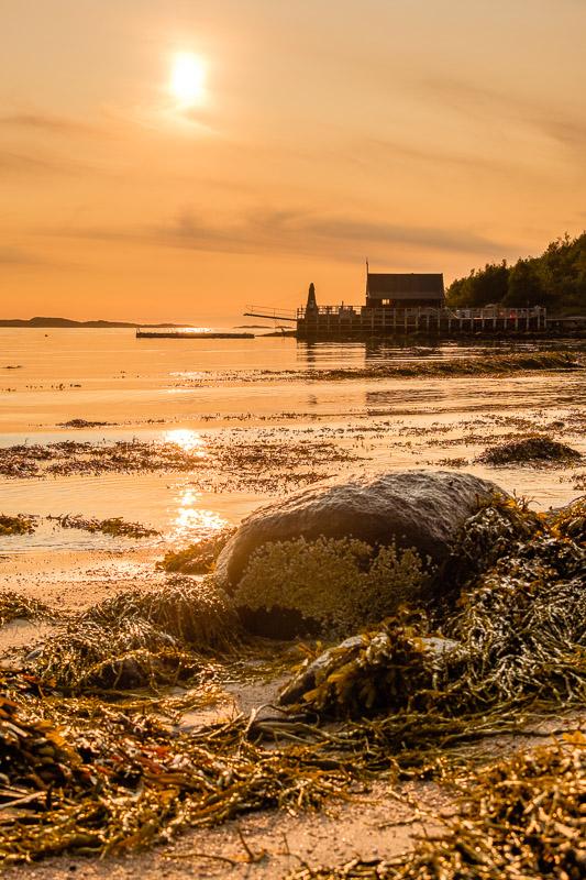 Strandfoto zu Sonnenuntergang im Hochformat