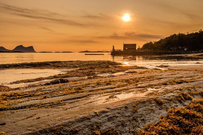 Strandaufnahme Sonnenuntergang Querformat
