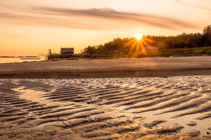 Strandbilder Fototipps: Sonnenuntergang mit Blendenstern