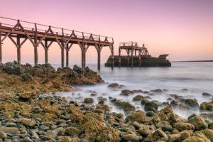Strandbild Langzeitbelichtung Sonnenaufgang Fotonomaden