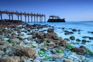 Strandbild blaue Stunde Fotonomaden