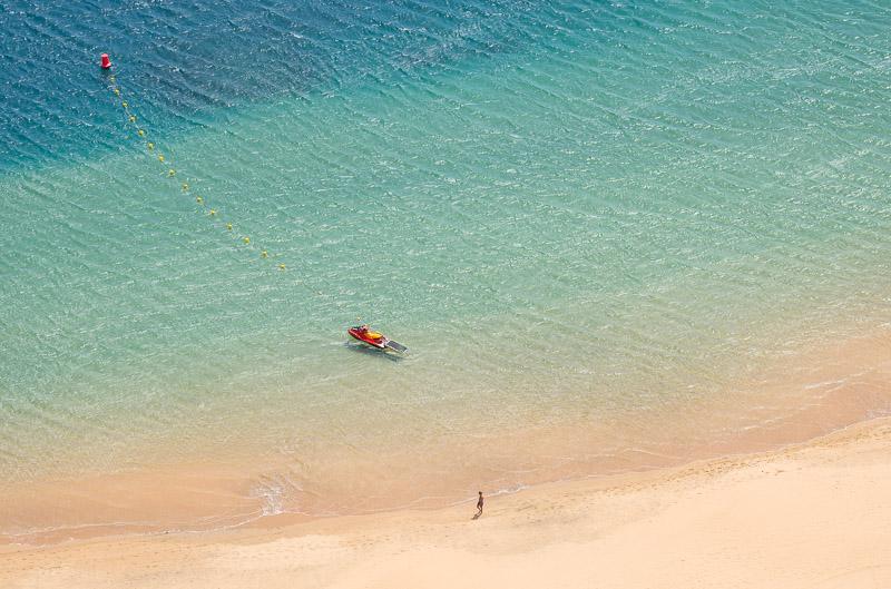 Strandbilder Luftaufnahme vom Meer