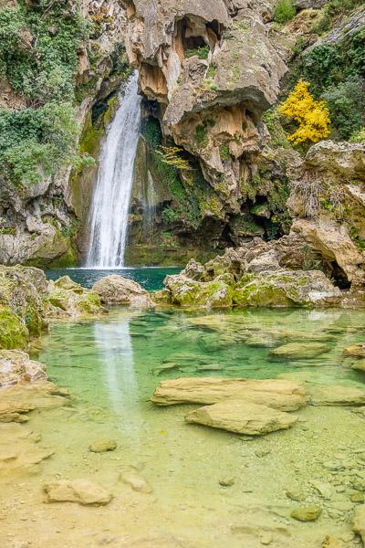 Wasserfall Langzeitbelichtung am Rio Borrosa