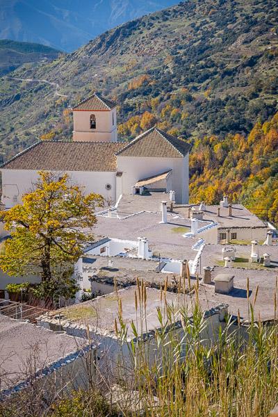 Kirche von Bubión, Sierra Nevada, Andalusien
