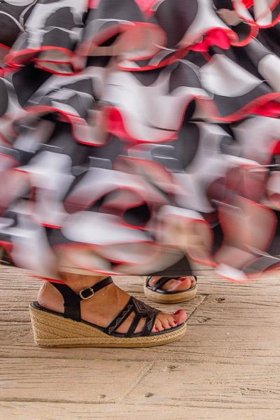 Wirbelnder Rüschenrock von Flamencokleid