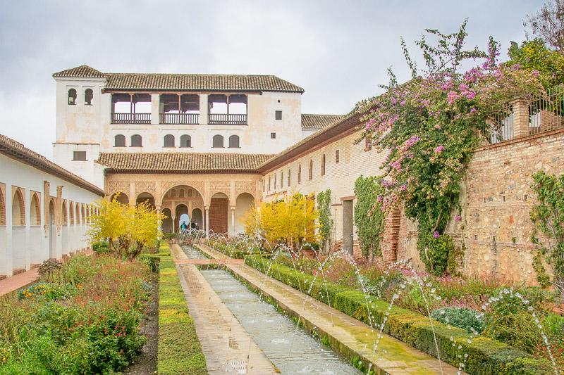 Palast des Generalife, Alhambra, Granada, Andalusien