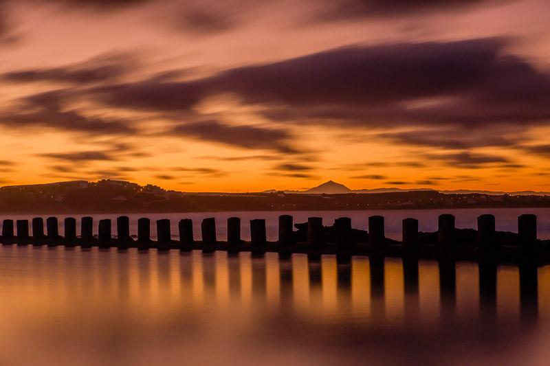 Sonnenuntergang mit Buhnen auf Gran Canaria