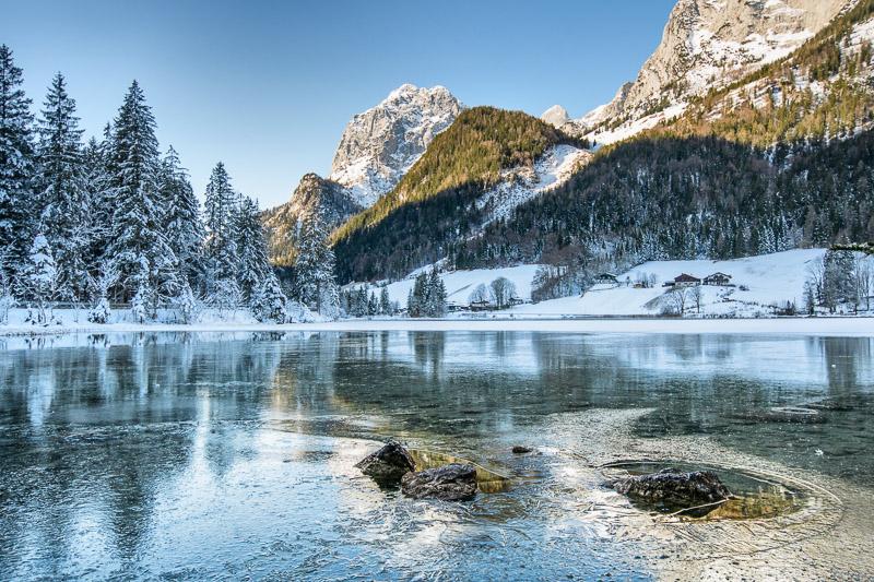 Hintersee im Berchtesgadener Land im Winter
