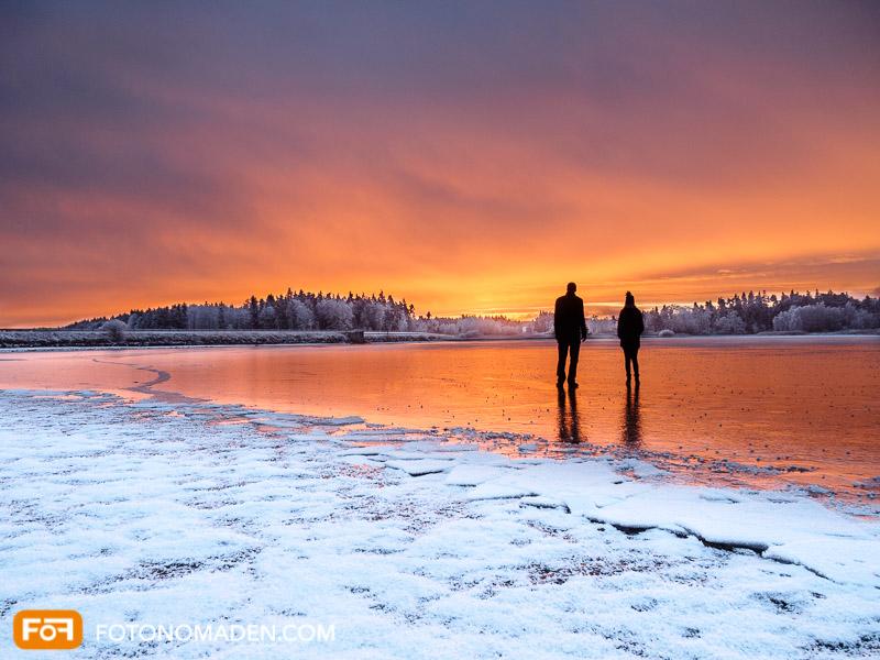 Winterfoto Sonnenaufgang, schöne Winterbilder