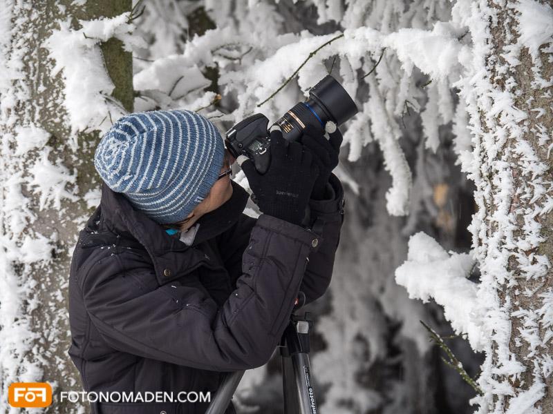 Für schöne Winterfotos ist ein Stativ oft hilfreich