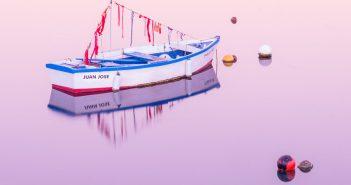 Langzeitbelichtung Boot Morgenstimmung