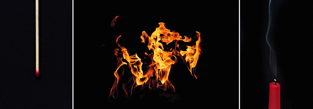 Fotoideen für zu Hause - Das Spiel mit dem Feuer