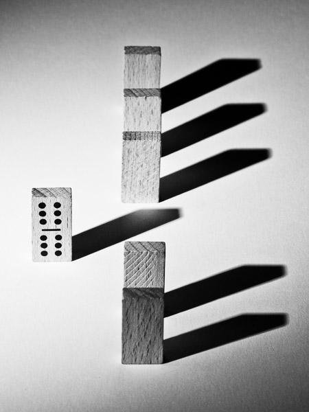 Fotoideen für Zuhause - Dominosteine mit Aussage