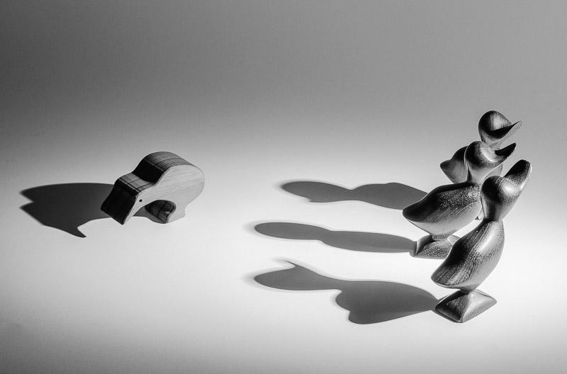 Fotoideen für Zuhause - Schattenwürfe und Positionierung sorgen für eine neue Aussage