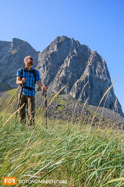 Bergfotografie - Markus von tiefem Standpunkt aus aufgenommen
