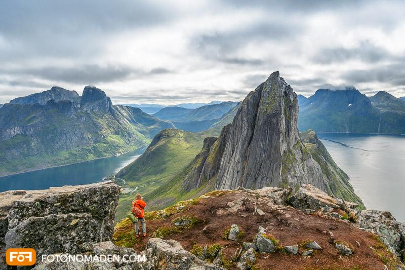 Bergfotografie - Bergpanorama auf Senja in Norwegen