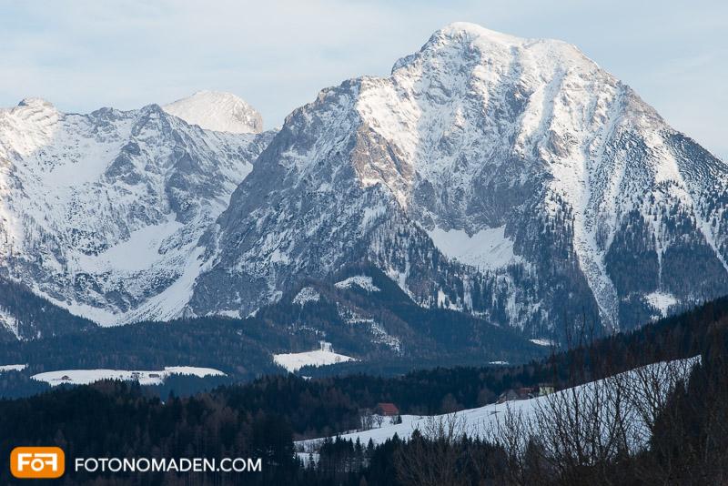 Bergfotografie - unspektakuläres Bild in Farbe