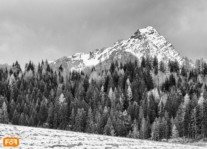 Bergfotografie - Variante in Schwarzweiß