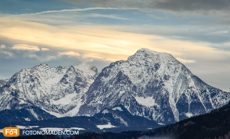 Bergfotografie - goldene Stunde