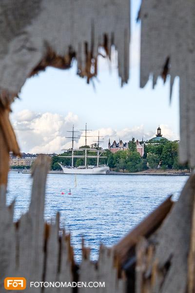 Städtefotografie Stockholm Segelschiff