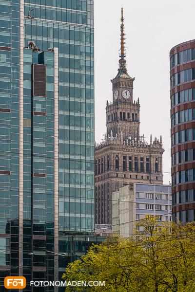 Städtefotografie Warschau Kontrast alte und neue Architektur