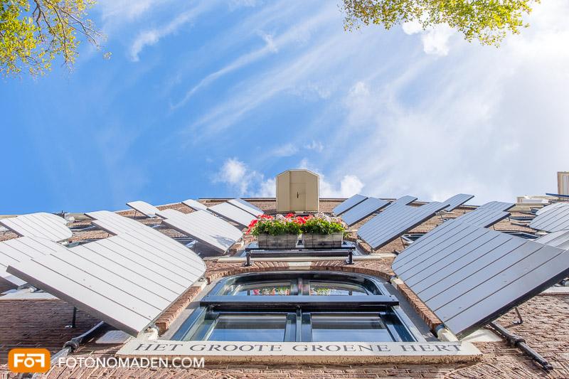 Städtefotografie Amsterdam Blick nach oben