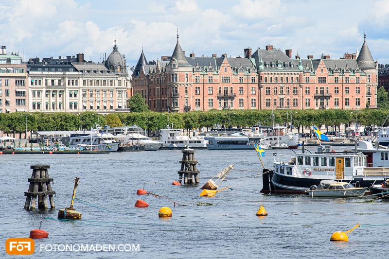 Städtefotografie Stockholm Blick vom Wasser aus