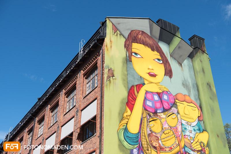 Städtefotografie Stockholm Streetart auf Hauswand