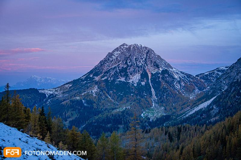 Blaue Stunde Bergfoto
