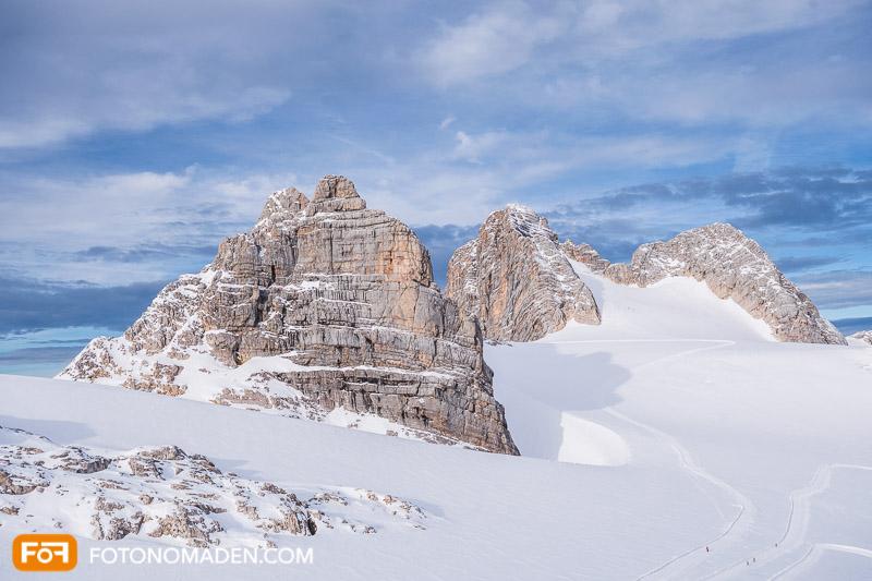 Bergmassiv am Dachstein Gletscher